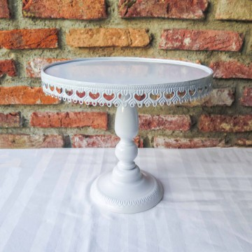 "12"" White Lace Cake Stand"