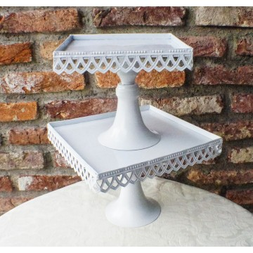 """9"""" x 9"""" Teardrop Lace Square Stand"""