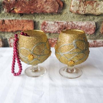 Gold Glitter Goblets