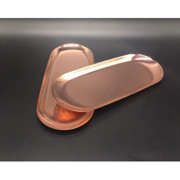Oval Rose Gold Tray