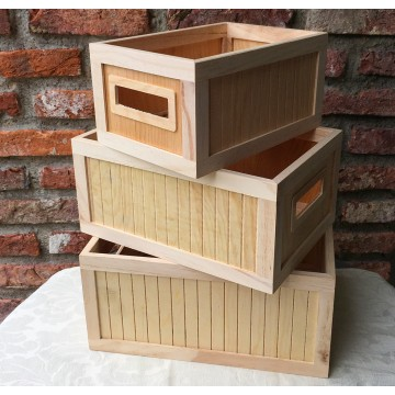 Wooden Crates (Set of 3)