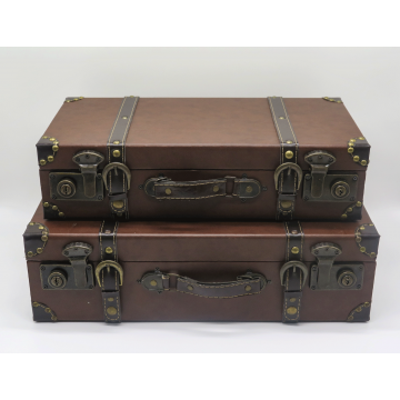 Brown Vintage Suitcase (Set of 2)