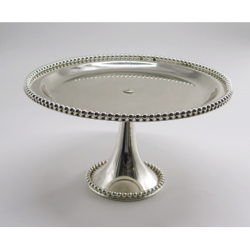 "12"" Silver Cake Stand."