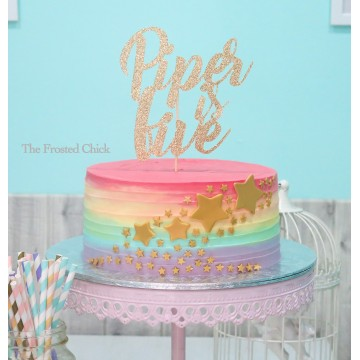 Custom Cardstock Wording Topper