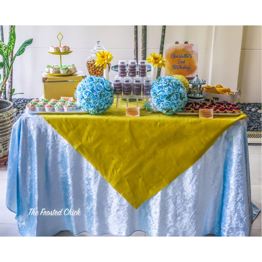 Yellow and Light Blue