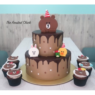 Line Brown and Friends Cake (2 tier)