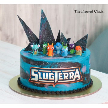 Slugterra Galaxy Shards cake