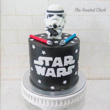 Star Wars Cake ( with Individual topper)
