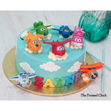 Sky Cake with Super Wings toy set