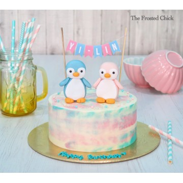 Baby Penguins Fondant Toppers