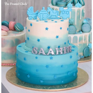 Baby Shower Ombre Cake