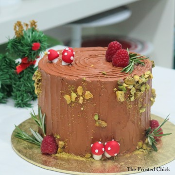 Christmas Log stump Cake