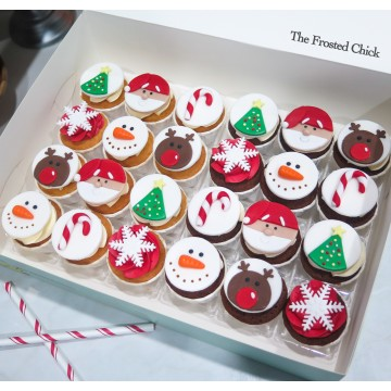 Christmas Mini Cupcakes (Per Dozen; 12pcs)