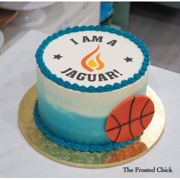 Basket Ball cake with any Team Logo
