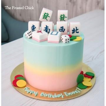 Pastel Mahjong Cake