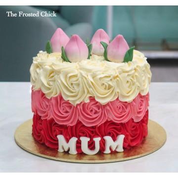 Longevity Rosette Cake