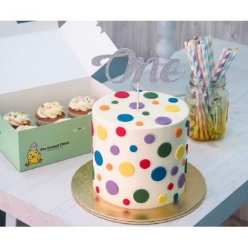 Rainbow Polkadots Cake