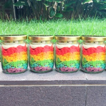 Rainbow Jar Cake